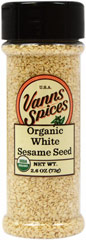 Organic White Sesame Seeds  2.6 oz Bottle  $7.49