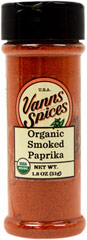 Organic Smoked Paprika  2.4 oz Bottle  $7.99