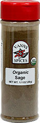 Organic Sage <p><strong>From the Manufacturer:</strong></p><ul><li>Sourced from: Turkey</li><li>Flavor/Aroma: Sharp (but not harsh), peppery warm flavor and aroma.</li><li>Popular Cuisine(s): Middle East & Eastern Mediterranean, Indian.</li><li>Try It In/With: Stuffing recipes, sausages, pork, lamb, seafood, eggplant, salads, and tomato soup.</li></ul><p><strong></strong><strong>&l