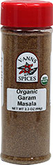 Organic Garam Masala <strong>From the Manufacturer: </strong>Garam Masala is a Northern Indian style curry powder. Garam Masala is based on a mixture of cardamom, coriander, and black pepper. 2.3 oz Bottle  $7.99