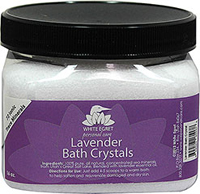 Lavender Bath Salt Crystals <p><strong>From the Manufacturer:</strong></p><p>Lavender bath crystals from White Egret help balance, detoxify, and nourish the skin. These special bath crystals contain over 72 ionic trace minerals from Utah's great salt lake including minerals like magnesium, zinc, copper, and selenium. These ionic minerals and trace minerals together with natural organic lavender essential oils, help soothe, soften, heal, beautify, and improve the