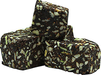 "Organic Carob Supergreens Energy Squares <p><strong>From the Manufacturer:</strong></p><p><span class=""t-marker""></span><strong></strong>Amazingly good! Chunks of Energy are an organic unique superfood treat that is raw, organic, gluten-free and are made using only the finest ingredients. </p><p>Loaded with real chunks of organic raisins, apricots, sunflower seeds, carob, and our special super green mix!</p> 7 oz B"