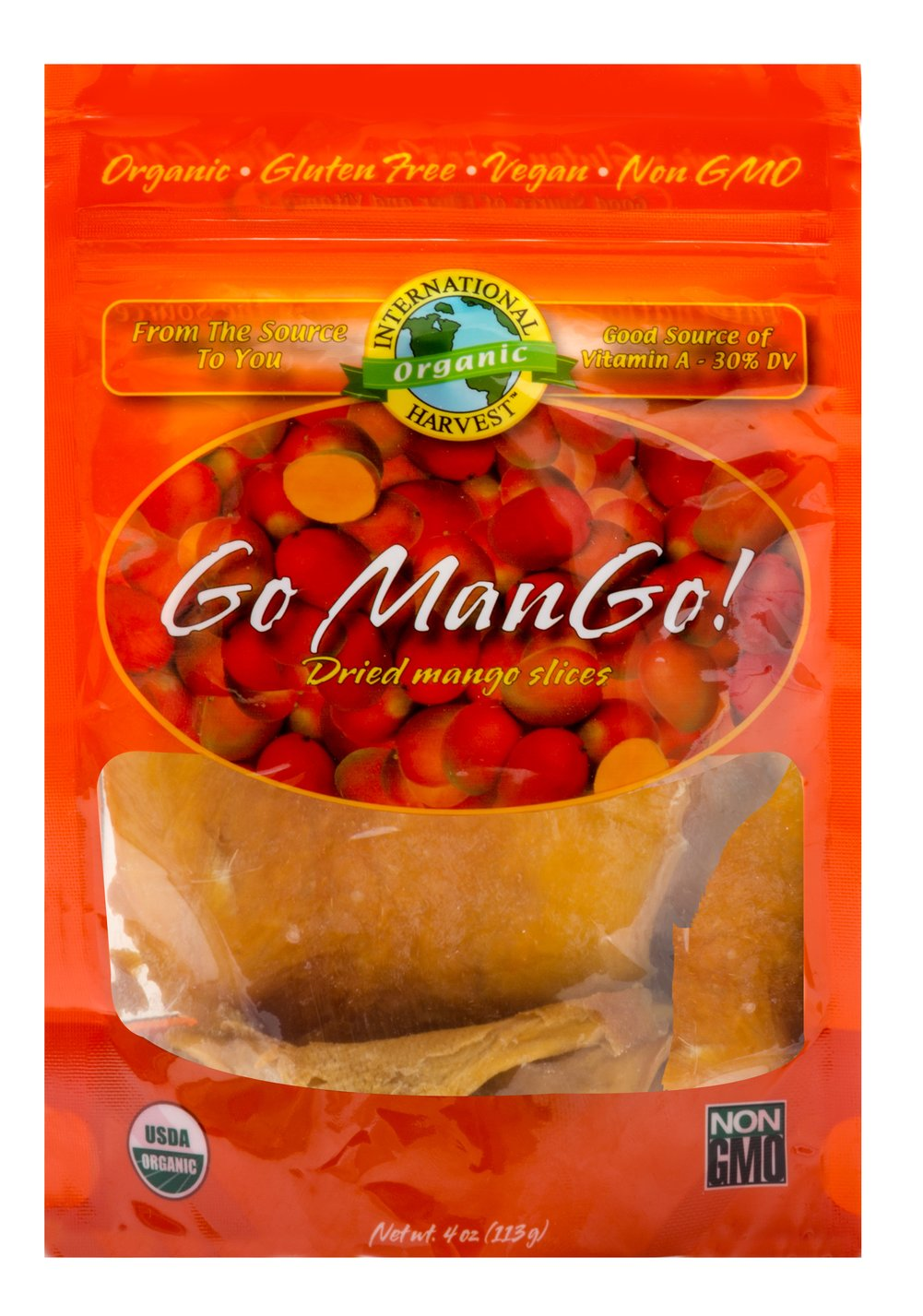 Organic Mango Slices <p><strong>From the Manufacturer:</strong></p><p><strong></strong>100% Organic sliced mango, packed with tropical flavor and nutrition. </p> 4 oz Bag  $9.99
