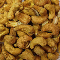 Organic Curry Cashews <p><strong>From the Manufacturer:</strong></p><p><strong></strong>Certified Organic Dry Roasted Whole Cashews flavored with organic curry powder and sea salt. </p><p>Medium curry flavor, not spicy. Great for eating and/or cooking.</p> 4 oz Bag  $9.99