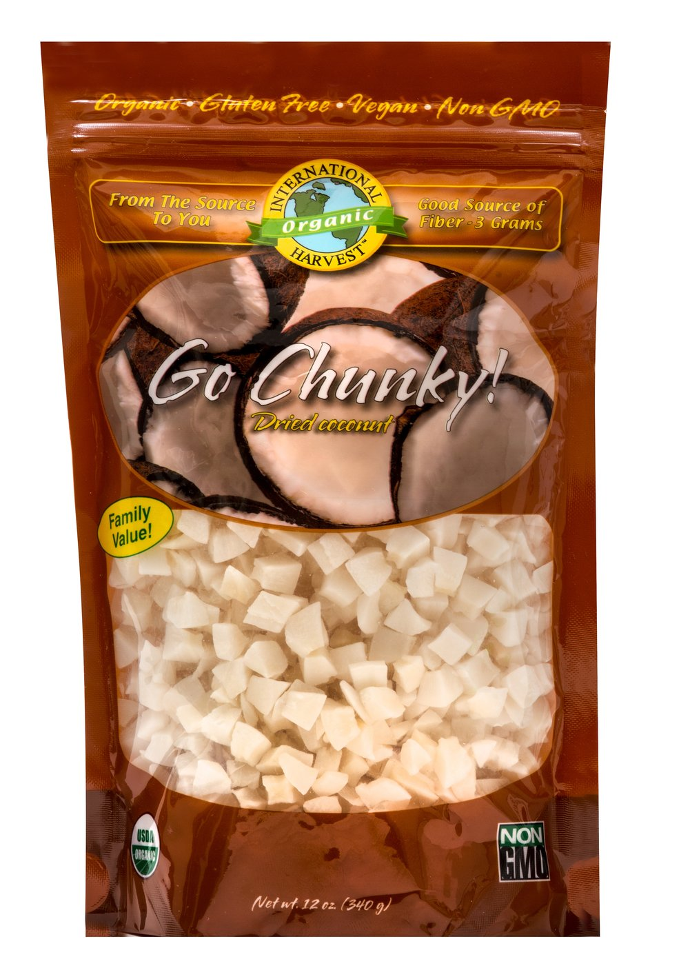 Organic Dried Coconut <p><strong>From the Manufacturer:</strong></p><p><strong></strong>Organic Dried Coconut Cubes are perfect to snack on. Mix in yogurt or granola for a real treat. <br /></p> 12 oz Bag  $12.99