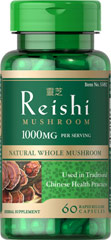 Reishi Mushroom 500 mg <ul><li> Reishi Mushroom   </li><li>Natural Whole Mushroom   </li><li>Used in Traditional Chinese Health Practices   <br /></li><li>60 Rapid Release Capsules<br /><br />Reishi mushrooms are also known as lingzhi mushrooms and they have been a well-known staple in traditional Asian health practices. These mushrooms with the Latin name, Ganoderma L