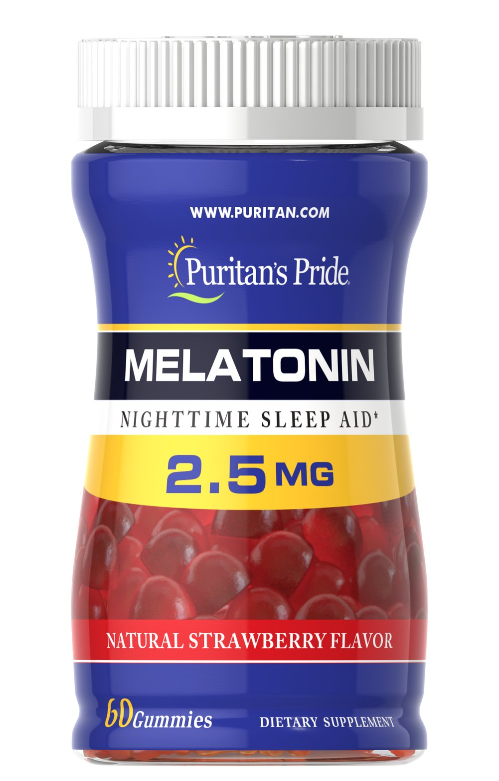 Melatonin Gummy 2.5 mg Strawberry Flavor <ul><li>Nutritionally supports sound sleep** </li><li>Fall asleep faster, stay asleep longer**</li><li>Helps improve quality of rest**  </li></ul><p>Melatonin is a naturally occurring hormone that is produced in the body and it is closely involved in the natural sleep cycle.** If you experience occasional sleeplessness, or if you want to improve your quality of rest, melatonin may be a good choice.** I