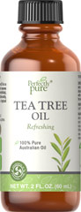Tea Tree Oil <strong>What it is:</strong><br />Perfectly Pure® Tea Tree Oil is a 100% pure oil, extracted from the leaves of the Melaleuca alternifolia tree from Australia.<br /><br /><strong>What it does:</strong><br />Tea Tree Oil's distinct, pleasantly fresh aroma makes it an appealing choice as a skin and hair care oil. If you have sensitive skin, dilute the Tea Tree Oil first with a carrier oil, such as jojoba or almond – then apply liber