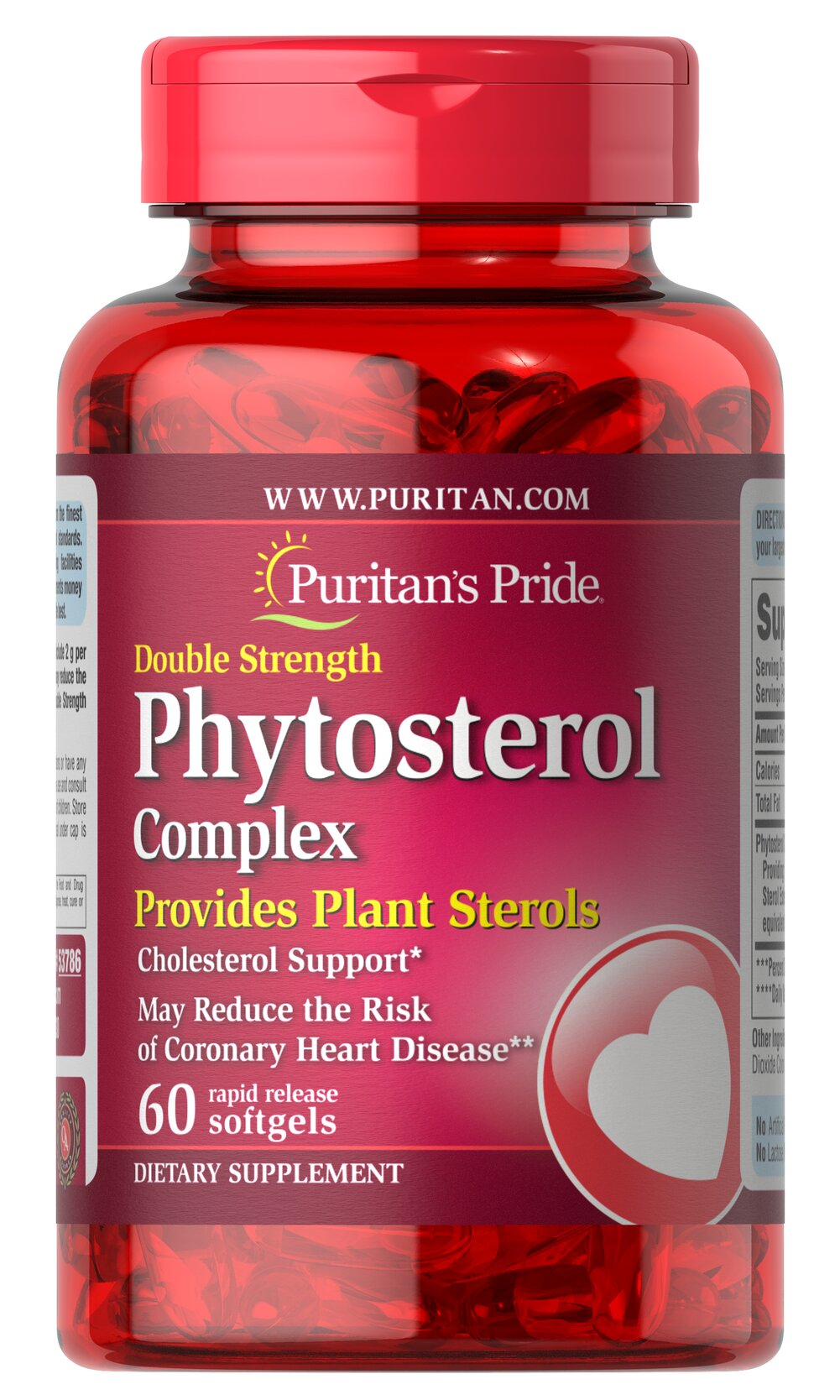 Double Strength Phytosterol Complex 2000mg (per serving) <ul><li>Provides Plant Sterols</li><li>Cholesterol Support**</li><li>May Reduce the Risk of Heart Disease*<br /></li></ul><p>Scientific evidence demonstrates that diets that include phytosterols may reduce the risk of coronary heart disease.  Our specialized formula exceeds strict quality standards for levels of phytosterols (beta sitosterol, stigmasterol, and campesterol