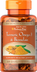 Turmeric, Omega-3 & Bromelain <ul><li>Supports healthy joints** </li><li>Contains antioxidant compounds </li><li>Blend of 3 popular ingredients  </li></ul><p></p><p>The three active ingredients in this blend are popular for their joint health supporting abilities.**  The active ingredients in Turmeric include beneficial flavonoids called Curcuminoids, which are plant-based antioxidants.** Antioxidants help fight cell-damaging