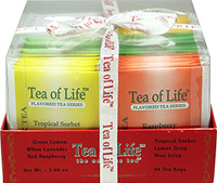 "Regular Tea Gift Set <p><strong>From the Manufacturer:</strong></p><p>This gift tray assortment of regular tea is a perfect gift for the Original tea lover. This tea may be ""regular"" but its definitely not boring! </p><p>Includes the Following:</p><ul><li>Mint Julep</li><li>Lemon Drop</li><li>Tropical Sorbet</li><li>Red Raspberry</li><li>White Lavender</li><li>Green L"