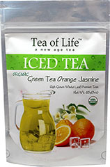 Organic Orange Jasmine Green Iced Tea <p><strong>From the Manufacturer:</strong></p><p>Organic Orange Jasmine Green tea is a Premium Whole leaf tea blended with Ceylon Green tea, Jasmine Flower and Orange Peel, with natural Orange and Jasmine flavors. Tea of Life Organic teas are easy to brew and are good for you too!</p> 6 Bags  $9.99