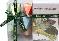 Wellness Pyramid Tea Collection <p><strong>From the Manufacturer:</strong></p><p>This Wellness Pyramid Tea Collection is good for your well-being and delicious too! These teas come in a beautiful pyramid shape, perfect to give as a gift or just enjoy a relaxing cup of tea at home. These four different wellness teas are carefully selected together to make sure your always feeling good!</p><p>Includes the Following:</p><ul><li>Calming Tea