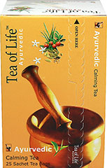Calming Sachet Tea <p><strong>From the Manufacturer:</strong></p><p>Tea of Life Calming Tea  is a blend of smooth, refreshing green tea with forest collected Ancient medicinal herbs. This tea is 100% natural and Ayurvedic, with a blend of Asparagus, Lemongrass, Winter Cherry, Cardamom, and Jasmine flavors.  The addition of Lemongrass makes the tea smooth while the Cardamom makes it fine and helps keep its freshness. The overall flavor is rounded of