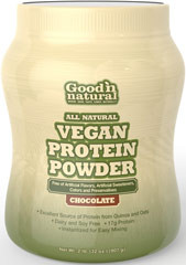 All Natural Vegan Protein Chocolate with Quinoa and Oats <p>This all-natural vegan protein powder is free of artificial flavors, artificial colors, and artificial sweeteners. It is also preservative free.  </p><p>Made from Quinoa and Oats, this delicious chocolate flavored drink is dairy free and soy free, making it an ideal choice for those looking for a vegan protein option that is nutrient dense.   </p><p>Each serving of this delicious protein powder delivers 17