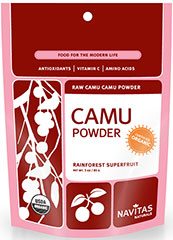 Organic Raw Camu Camu Powder <strong>From the Manufacturer's Label:</strong><br /><br />Camu camu is a low-growing shrub found throughout the river corridors of the Amazon rainforest of Peru and Brazil.  This bag contains 100% pure camu camu powder that is certified organic, kosher, non-gmo, gluten-free and raw.<br /><br />Camu camu is most famous for its mega-C content, containing 30 to 60 times more vitamin C than an orange.  In additio