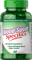 Blood Sugar Specifics with Cinammon & Chromium <p>Blood Sugar Specifics is the ideal supplement for those looking to maintain blood sugar levels that are already within a normal range.** This formula features Chromax®, a patented form of the important mineral Chromium Picolinate. Chromium is a key component of the glucose tolerance factor (GTF) that works to support your body's use of sugar.** Blood Sugar Specifics is also enhanced with Cinnamon.**</p> 60 Capsules  $14.9