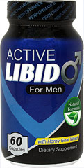 Active Libido for Men With herbs such as Maca, Tribulus, Horny Goat Weed and Saw Palmetto 60 Capsules  $15.99