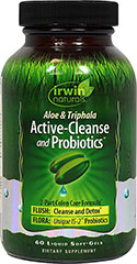 Aloe & Triphala Active-Cleanse and Probiotics™ <p><strong>From the Manufacturer:</strong></p><p>Active-Cleanse and Probiotics™ is a gentle yet effective formula that works through the digestive tract to promote toxin elimination and probiotic replenishment.*</p><p>Manufactured by Irwin Naturals®</p> 60 Softgels  $15.99
