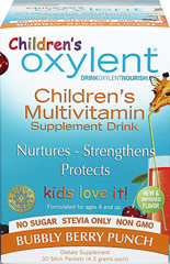 Children's Oxylent Bubbly Berry Punch Multivitamin Drink <p>From the Manufacturer:</p><ul><li>No Sugar, Stevia Only</li><li>Non GMO</li><li>No Preservatives or Additives</li><li>No Dairy</li><li>No Gluten</li></ul><p>Children's Oxylent contains all B vitamins, to support your child's development.* Children's Oxylent also contains vitamin D3, calcium, and magnesium.</p><p>Manufact