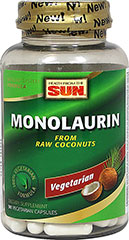 Monolaurin 100% Vegetarian <p><strong>From the Manufacturer:</strong></p><p>Provides nutritional support for healthy immune function and healthy digestive system function**</p><p>Manufactured by Health from the Sun®</p> 90 Capsules 1100 mg $9.49