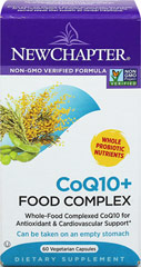 CoQ10+ Food Complex <p><strong>From the Manufacturer:</strong></p><ul><li>Whole Food Complexed CoQ10 for Antioxidant & Cardiovascular Support*</li><li>Cultured with beneficial live probiotics</li><li>Can be taken on an empty stomach</li></ul><p>Manufactured by New Chapter®</p> 60 Capsules  $46.99