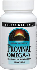 Provinal® Omega-7 <p><strong>From the Manufacturer:</strong></p><p>Provinal® is a concentrated source of palmitoleic acid, which is an omega-7 fatty acid derived from wild anchovies.</p><p>Manufactured by Source Naturals®</p> 30 Softgels 420 mg $18.99