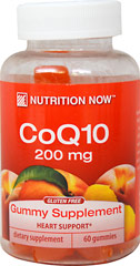Co Q10 Adult Gummy Supplement 200 mg <p><strong>From the Manufacturer:</strong></p><ul><li>Adult Formula</li><li>Heart Support*</li><li>Natural Peach Flavor<br /></li><li>200 mg of CoQ10 per serving</li></ul><p>Manufactured by Nutrition Now®</p> 60 Gummies 200 mg $11.99