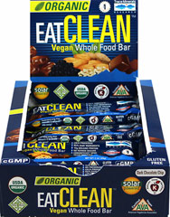 Organic Eat Clean Vegan Whole Food Bar <p><strong>From the Manufacturer:</strong><br /><br />Eating clean while on the run is difficult and inconvenient, which is why many of us end up eating junk when clean food isn't available. Not anymore. </p><p>EATCLEAN™ is a vegan food bar that you can conveniently stash in your purse or pocket for those times of the day when you need a boost of energy or a quick meal, but you still want to eat clean. Now, fast foo