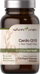 Cardio Q10  & Red Yeast Rice  120 Rapid Release Softgels  $29.99