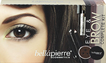 Eye & Brow Complete Kit <strong>From the Manufacturer:</strong><br /><br />Bellapierre Eye & Brow Complete Kit was put together to replace conventional eyebrow fillers and to shape your eyebrow with the exclusive Bellapierre tweezers provided. This simple 3 step system allows you to shape your eyebrows, fill your brows, and paint on your liquid eyeliner. The colors are made with our famous 100% Mineral Powders.<br /><br />Kit Includes:<br />&
