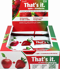 That's It Apple + Strawberry Bar  12 per Box  $17.99