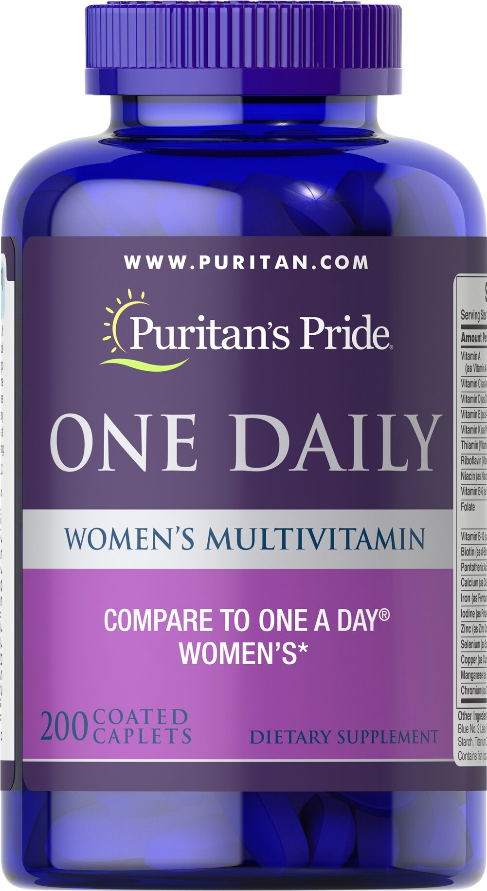 Women's One Daily Multivitamins <p><b>A Convenient Vitamin for the Woman on the Go!</b></p>  <p>Once-daily formula provides a valuable array of vitamins and minerals**</p> <p>Includes 1000 IU of Vitamin D to promote bone and immune system health**</p> <p>Provides 100% of the Daily Value of 5 different B-Vitamins to aid with energy metabolism and nervous system health**</p> 200 Caplets  $22.99