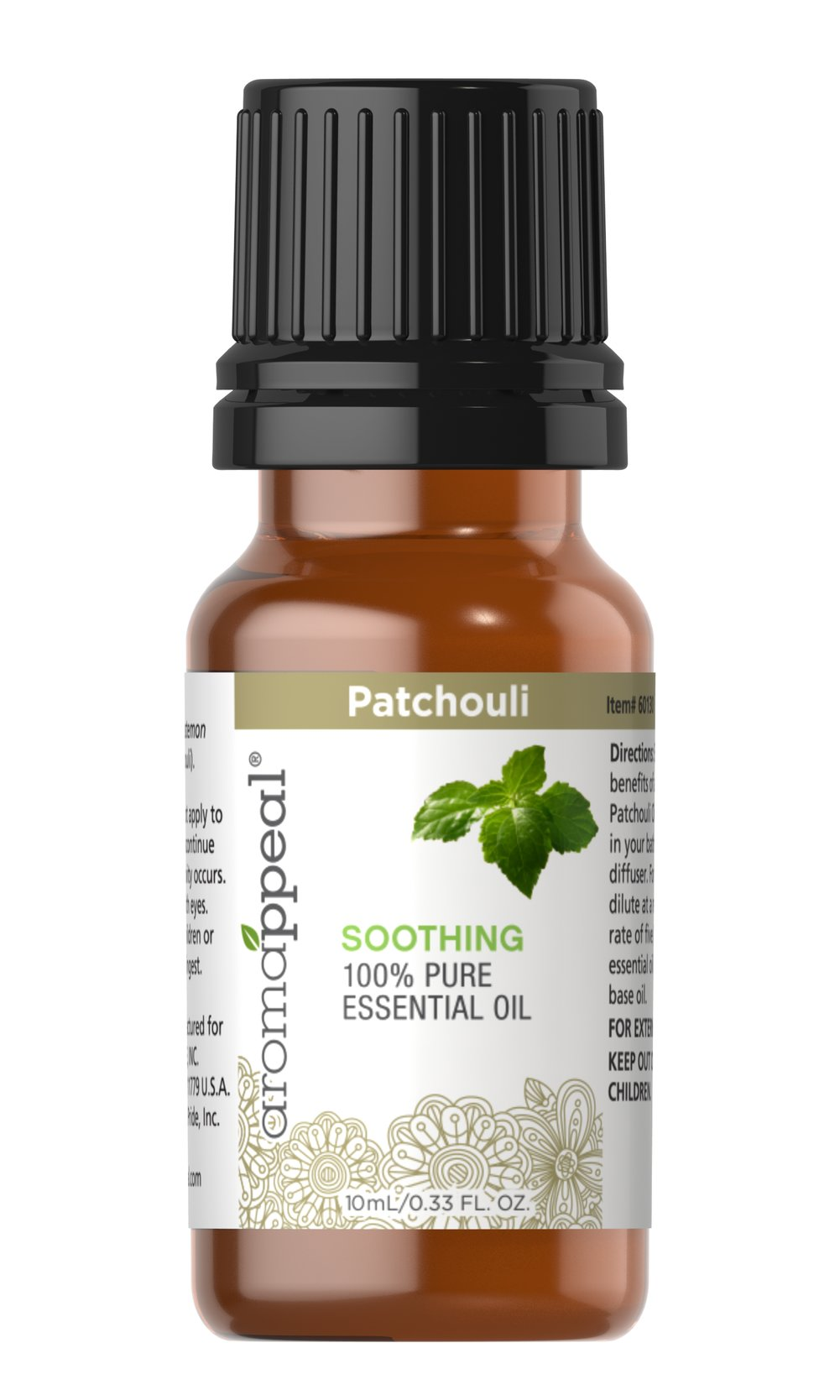 "Patchouli 100% Pure Essential Oil <p>Distinguished by its sweetly rich, earthy scent, Patchouli can set the scene for a quietly meditative aromatherapy encounter.</p><ul><li><span class=""bold-pink"">Traditional Uses:</span> Tranquility, serenity, and meditation.<br /></li><li><span class=""bold-pink"">History:</span>  Distinguished by its sweetly rich, earthy scent, Patchouli can set the  scene for a quietly medit"