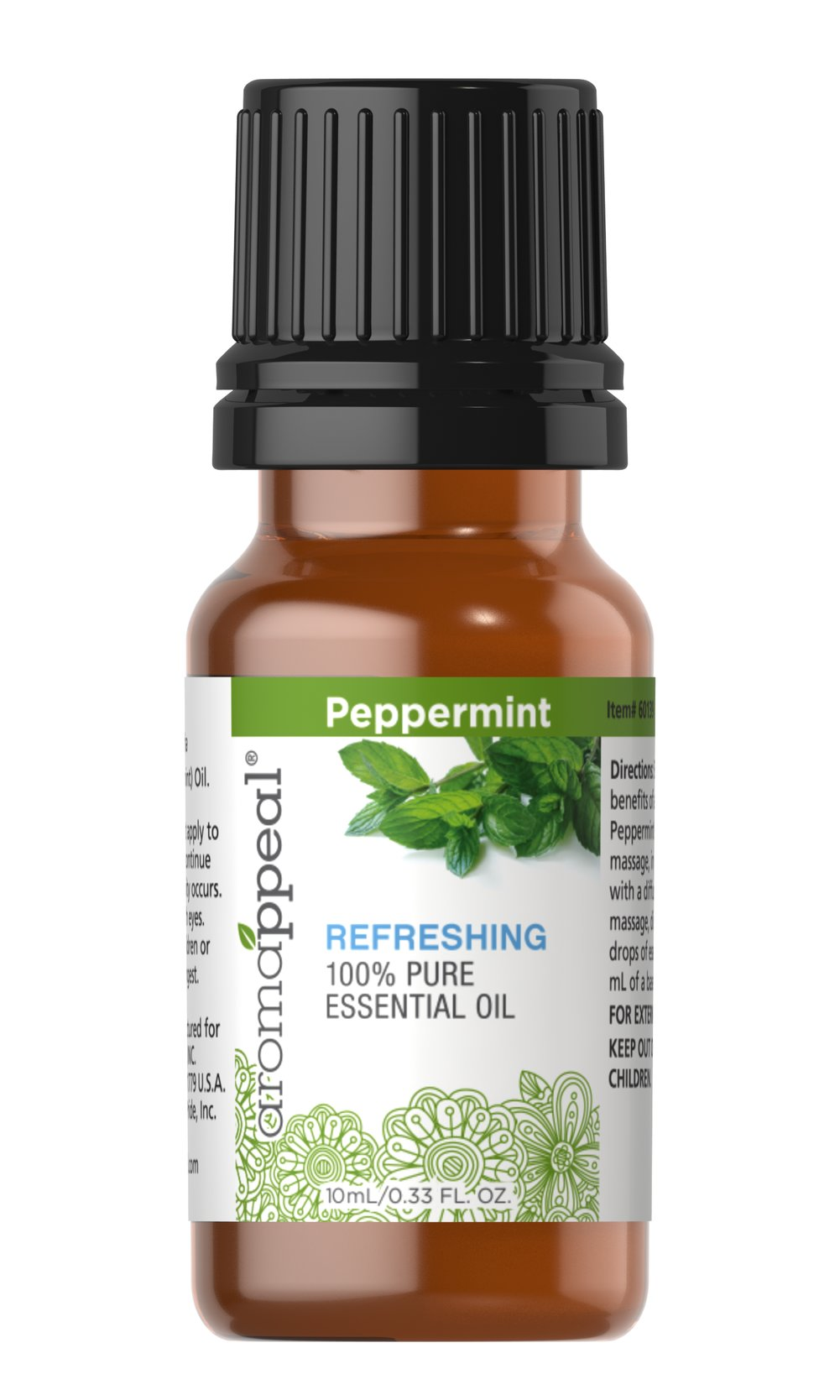 "Peppermint 100% Pure Essential Oil <p>Few scents are as distinctly tantalizing as the cooling, minty vibrancy of Peppermint.</p><ul><li><span class=""bold-pink"">Traditional Uses:</span> Rejuvenating especially when rubbed on the temples, refreshing,  uplifting, digestion, circulation, skin soothing, neurotonic for overall   nervous system health. </li><li><span class=""bold-pink"">History:</span>  Few scents are as dist"