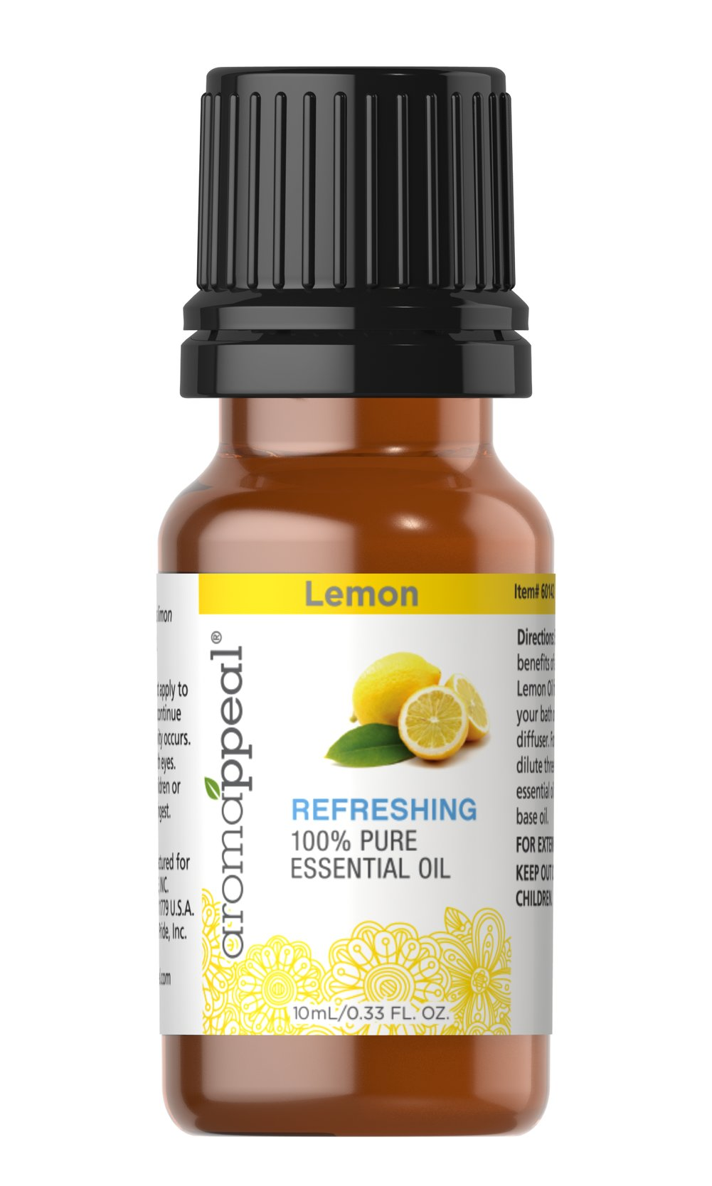 "Lemon 100% Pure Essential Oil <p>Arouse your senses with the cleansing, purifying freshness of Lemon Oil. Treasured for its sweetly mild, citrusy fragrance.<br /></p><ul><li><span class=""bold-pink"">Traditional Uses:</span> Cleansing and purifying.</li><li><span class=""bold-pink"">History:</span>  Arouse your senses with the cleansing, purifying freshness of Lemon Oil.  Treasured for its sweetly mild, citrusy fra"