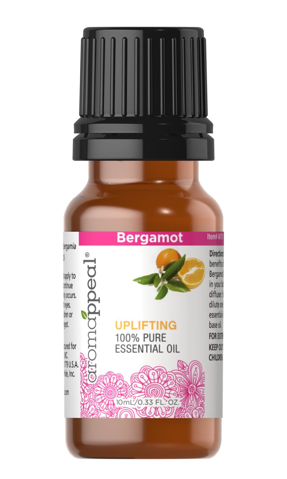"Bergamot 100% Pure Essential Oil <p>Gently coax yourself into a state of utter tranquility and serenity with the fresh, fruity scent of Bergamot. This purifying oil is perfect for when you want to lull yourself into peaceful meditation. </p><ul><li><span class=""bold-pink"">Traditional Uses:</span> purifying and cleansing, tranquility and serenity, meditation.</li><li><span class=""bold-pink"">History:</span>  Gently coa"
