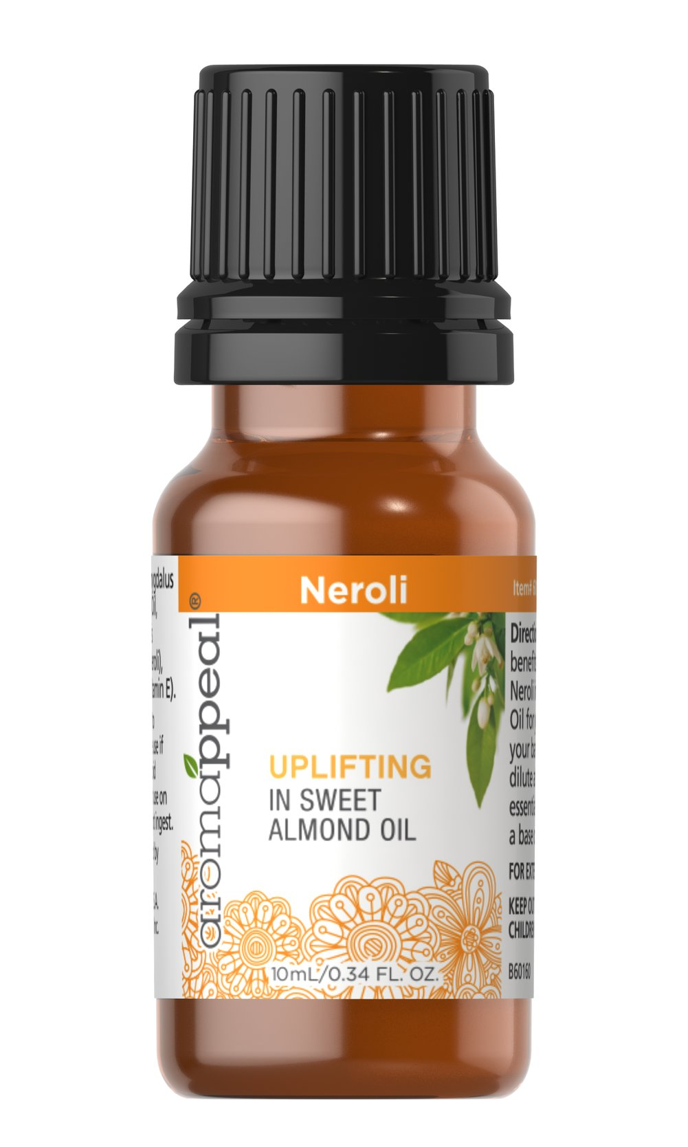 "Neroli in Sweet Almond Oil Invite genuine serenity into your life with the peaceful, balancing influence of Neroli Oil. Known for its delicate floral scent.<ul><li><span class=""bold-pink"">Traditional Uses:</span> Tranquility and serenity. </li><li><span class=""bold-pink"">History:</span>   Invite genuine serenity into your life with the peaceful, balancing  influence of Neroli Oil. Known for its delicate floral scent. Also used a"