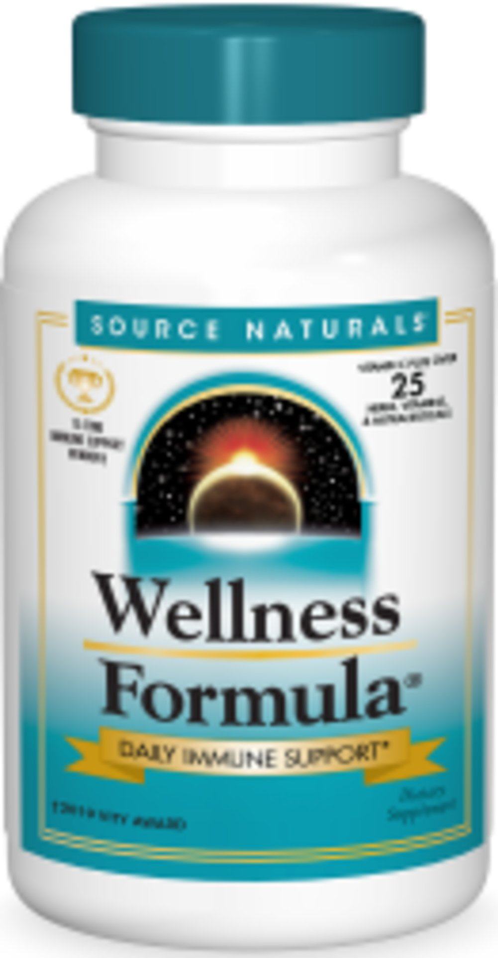 Wellness Formula <p><strong>From the Manufacturer's Label: </strong></p><p>Wellness Formula is a combination of herbs, antioxidants and vitamins.  These ingredients include Vitamin C, Echinacea, Goldenseal, Astragalus, Propolis and Garlic.</p><p>Manufactured by SOURCE NATURALS.</p> 90 Tablets  $15.99