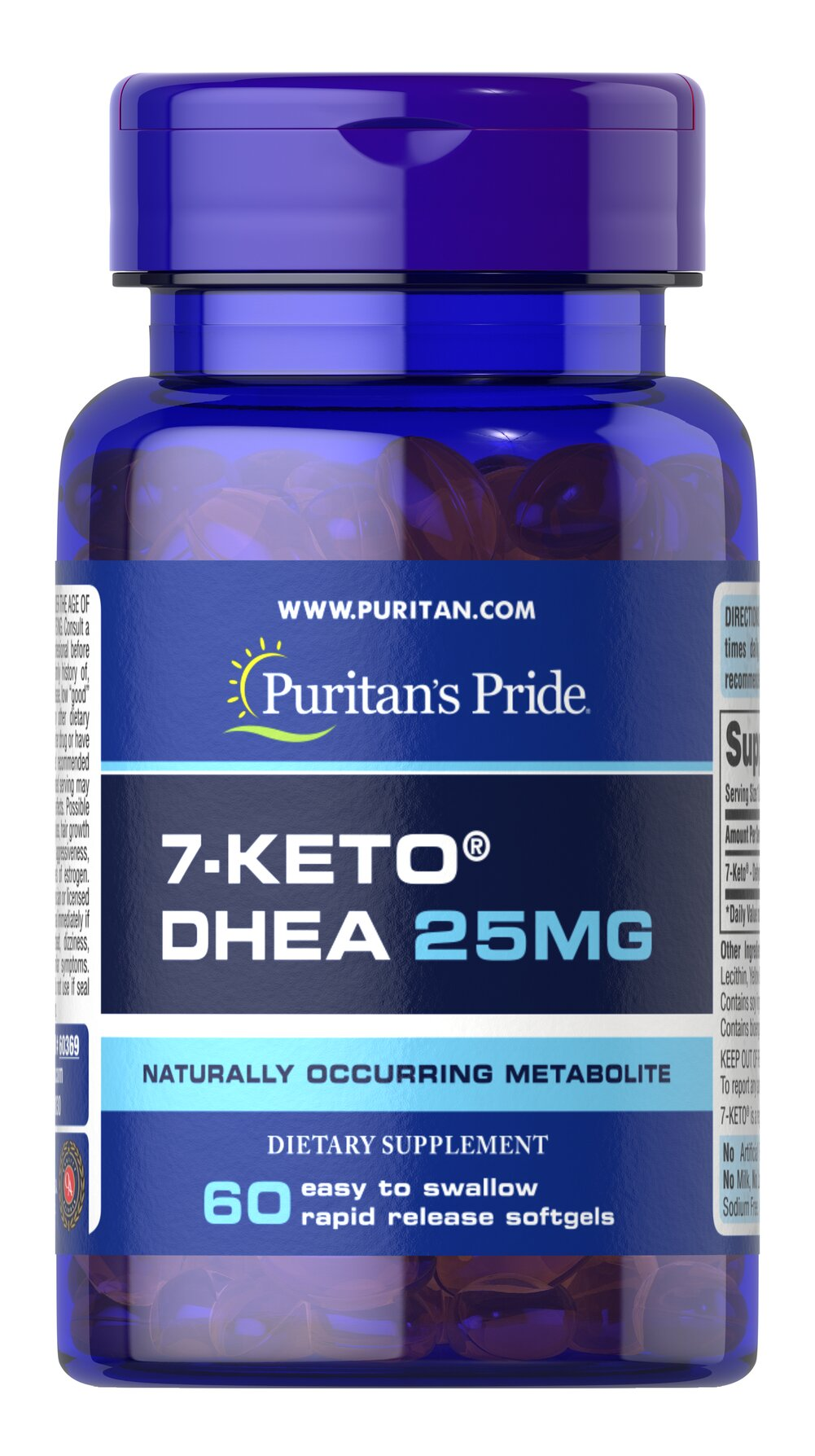 7-Keto™ DHEA 25 mg <p>DHEA levels can decline with age, and 7-Keto™ is a naturally occurring metabolite of DHEA. 7-Keto™ gives you what the body naturally produces. Each stimulant-free, caffeine-free softgel contains 25 mg of high quality 7-Keto™ DHEA in softgel form.</p> 60 Softgels 25 mg $21.59