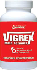 Vigrex™ <p><strong>From the Manufacturer's Label: </strong></p><p>We are proud to bring you Vigrex from Nutritional Concepts. Look to Puritan's Pride for high-quality products and great nutrition at the best possible prices.</p> 60 Tablets  $9.99