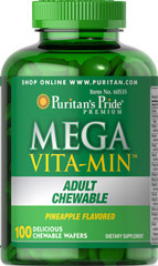Adult Chewable Multivitamins <p>Nutritional Supplement in a Delicious Chewable Form</p><p>Delicious Pineapple Flavor</p><p>More than 25 vitamins, minerals and nutrients</p> 100 Chewables  $27.99