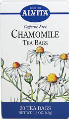 Chamomile Tea <strong></strong><p><strong>From the Manufacturer:</strong></p><p>Caffeine Free</p><p>Chamomile has daisy-like flowers and is a gentle, soothing herb.  With its pleasing sweet apple aroma, it has always been one of the world's favorite teas.  In addition, its fragrance makes Chamomile a pleasant addition to potpourris and aromatic dried flower arrangements. <br /></p> 30 Tea Bags  $4.49