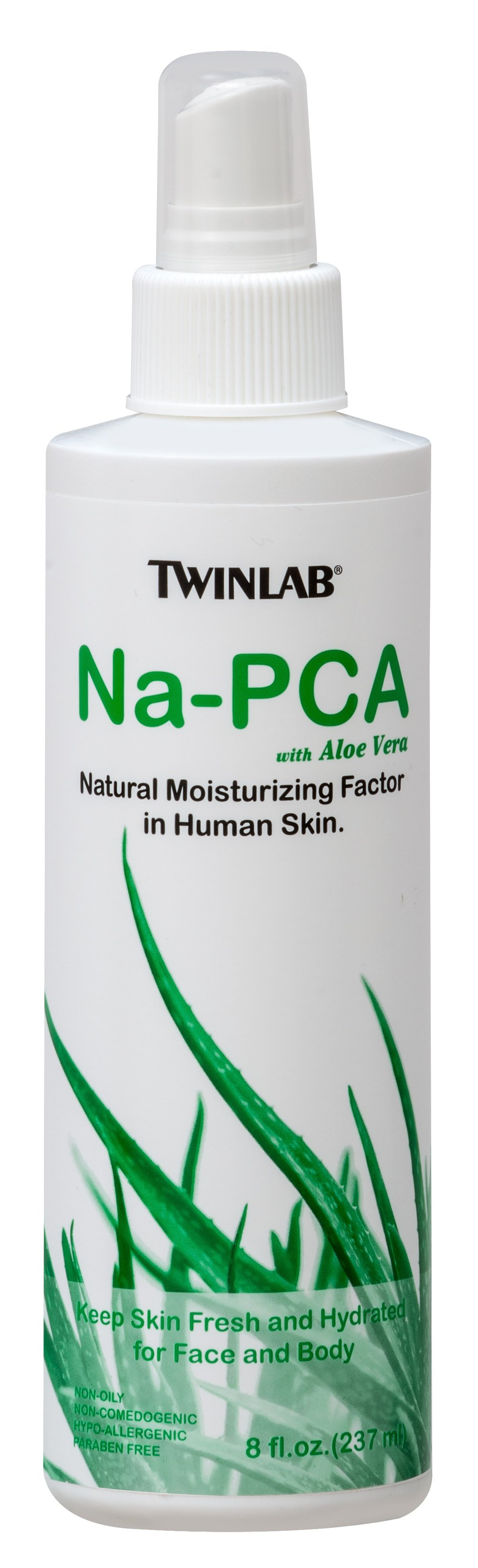 Na-PCA with Aloe Vera <p><strong>From the Manufacturer's Label:</strong></p><p>Twinlab Na-PCA with Aloe Vera is a Ph-Balanced, concentrated solution of the sodium salt of Pyrrolidone Carboxylic Acid, a natural moisturizing factor found in human skin.  Na-PCA is synthesized from Glutamic Acid, a nonessential amino acid.</p><p>The skin contains natural moisturizers, the most important being Na-PCA. Old skin contains only about half the amount of Na-PCA