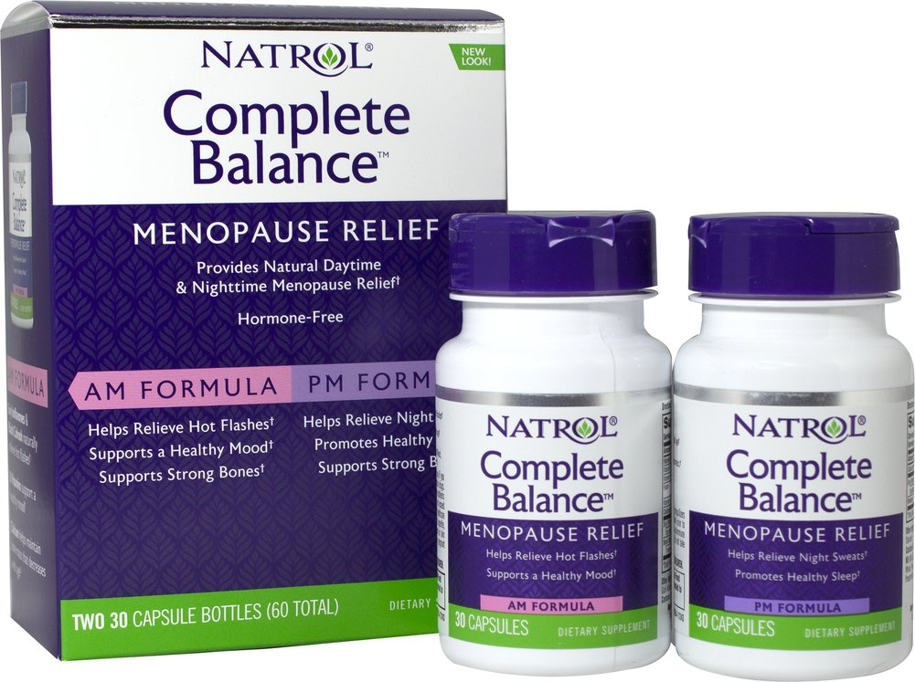 Complete Balance® for Menopause <p><strong>From the Manufacturer's Label: </strong></p><p>Complete Balance contains Soy, Calcium and Vitamins. AM FORMULA-Helps alleviate hot flashes and provides mood support.** PM FORMULA-Helps reduce night sweats and assists in getting a good night's rest.**</p><p>Manufactured by NATROL.</p> 60 Capsules  $9.99
