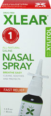 Xlear Sinus Nasal Spray with Xylitol <p><strong>From the Manufacturer's Label: </strong></p><p>All-Natural Saline Nasal Spray<br />Drug-Free<br />Helps Clean, Soothe and Protect**<br /><br />Manufactured by Xlear</p> 1.5 fl oz Liquid  $11.99