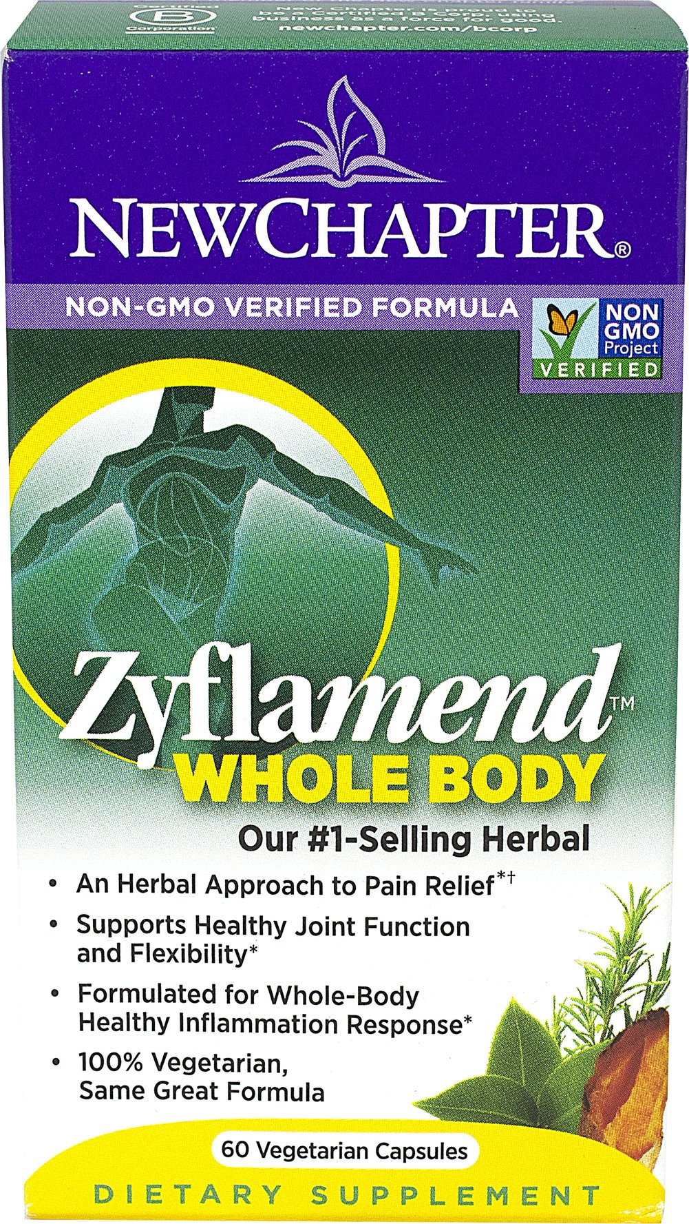 Zyflamend® <p><strong>From the Manufacturer's Label: </strong></p><p></p>Non-GMO Verified Formula<br /><br />The multi-herbal that may be as important as your daily multivitamin, Zyflamend delivers a multitude of naturally occurring compounds. Zyflamend delivers the full-spectrum of whole herbs in their natural profiles, not isolated compounds. Whole-food antioxidants, including Ginger, Turmeric, Green Tea and Rosemary, help quench free ra