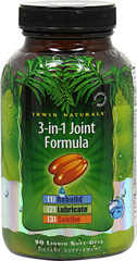 3-In-1 Joint Formula® <p><strong>From the Manufacturer's Label</strong></p><p>3-in-1 Joint Formula® combines nutrients, oils and botanical extracts to promote joint comfort and  support healthy joints in three distinct ways:</p><p><strong>Rebuild:</strong> Glucosamine and Chondroitin are included to help rebuild cartilage.**</p><p><strong>Lubricate:</strong> Glucosamine and Chondroitin enhance the lubrica