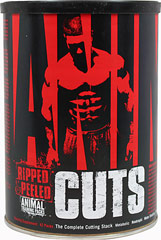"Animal Cuts <p><strong>From the Manufacturer's Label:</strong></p>WHAT ANIMAL CUTS® IS:   Ripped & peeled. That's what Animal Cuts is all about. When you want to get shredded, a plain old ""fat burner"" won't do. Well Animal Cuts ain't a fat burner. It ain't a thermogenic. It ain't a diuretic. Or a metabolic... It's all of these wrapped up into one. Having onion-thin skin is not about just getting rid of the fat, it's also the water. Water is what'll keep y"