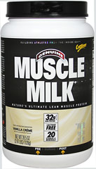 Muscle Milk® Vanilla Crème <p><b>From the Manufacturer's Label:</b></p> <p>Muscle Milk® is manufactured by Cytosport.</p><p>Available in Cookies N Crème, Strawberry Banana, Peanut Butter Chocolate, Strawberries N Crème, Blueberries N Crème, Chocolate Banana Crunch, Peach Mango, Chocolate & Vanilla Creme flavors.</p> 2.48 lbs Powder  $23.99